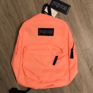 NWT JANSPORT NEON ORANGE/PINK backpack NEW